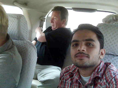 Moving for Amroha with Raza and my Canadian colleagues